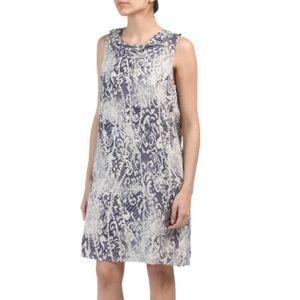 Lina Tomei 100% Linen snakeskin print Dress